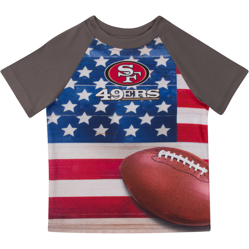 49ers Short Sleeve Flag Tee