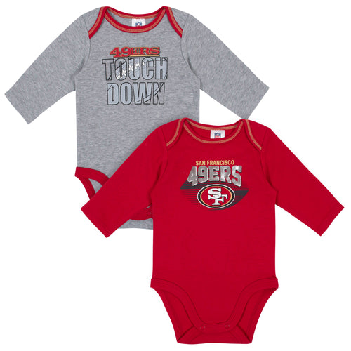 San Francisco 49ers Baby Boy Long Sleeve Bodysuits