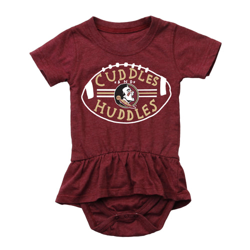 Cuddles and Seminoles Huddles Baby Girl Skirted Bodysuit