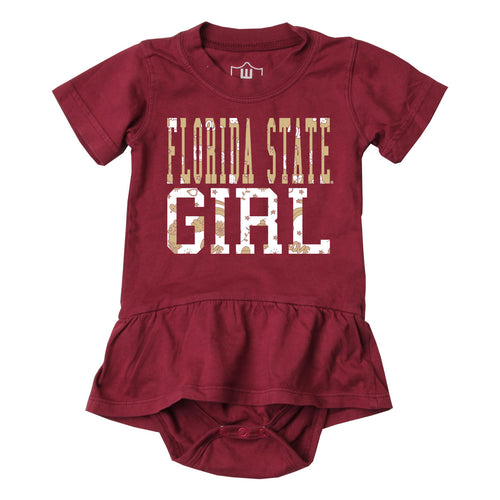 Florida State Girl Skirted Bodysuit