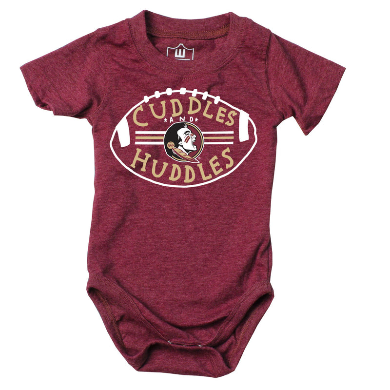 Cuddles and Seminoles Huddles Baby Bodysuit