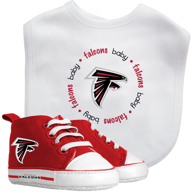 Atlanta Falcons Baby Bib with Pre-Walking Shoes