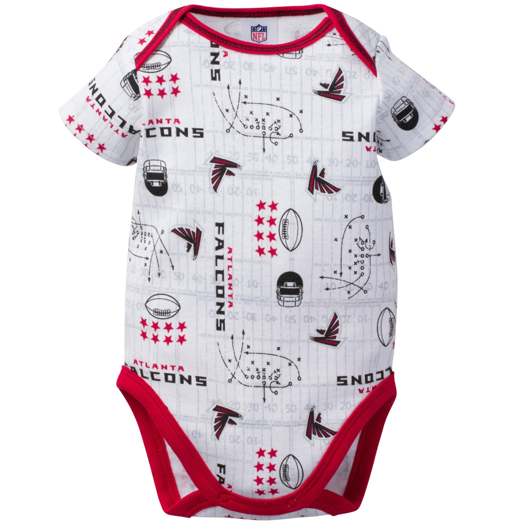 Falcons Baby 3 Pack Short Sleeve Onesies - babyfans