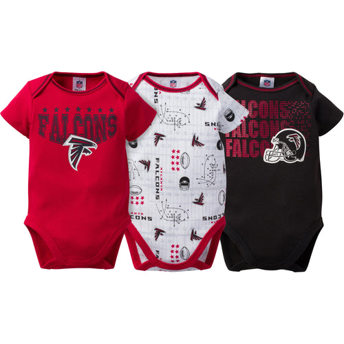Falcons Baby 3 Pack Short Sleeve Onesies