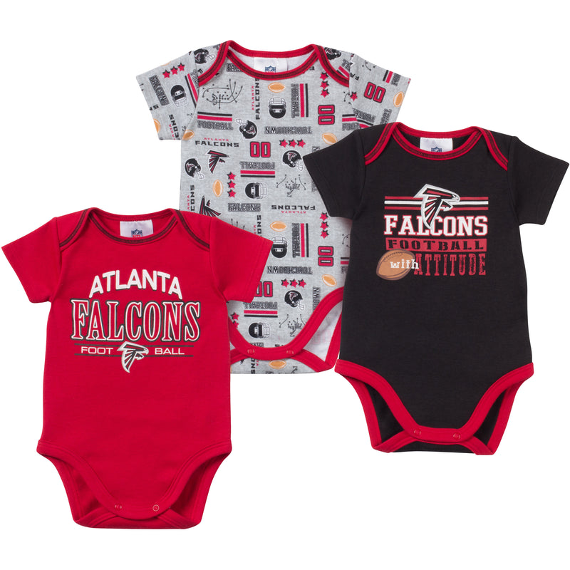 Baby Falcons Fan Onesie 3 Pack