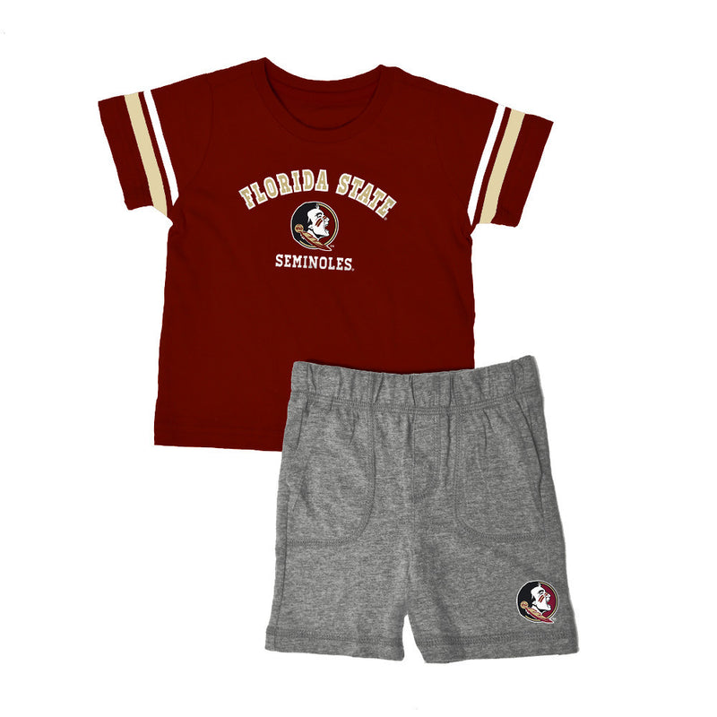 Florida State Knit Tee Shirt and Shorts