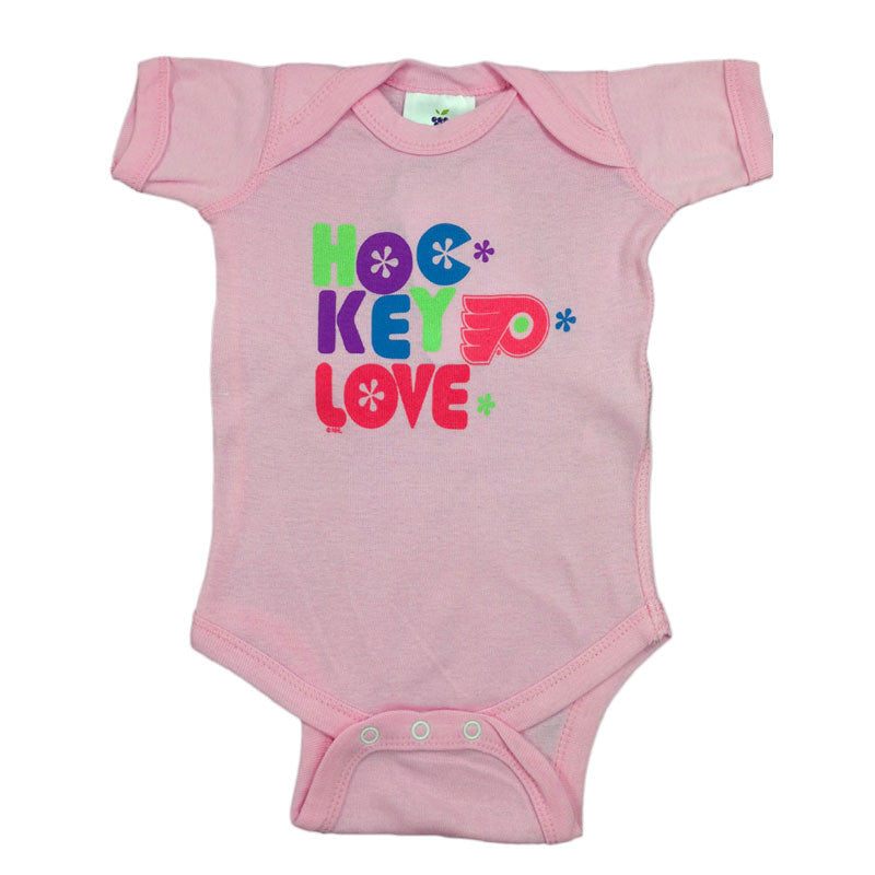 Flyers Pink Hockey Love Body Suit