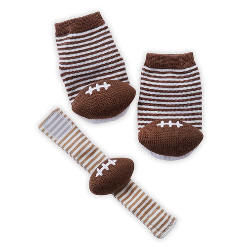 Football Wrist Rattle and Sock Set
