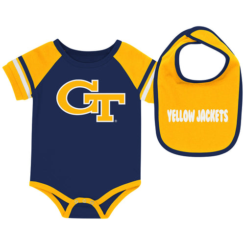Georgia Tech Baby Roll Out Onesie and Bib Set