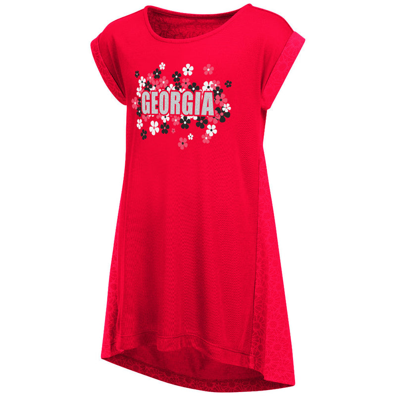 Bulldogs Girl Dots and Daisies Dress