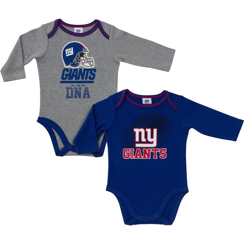 Giants Baby Boys 2-Pack Long Sleeve Bodysuit