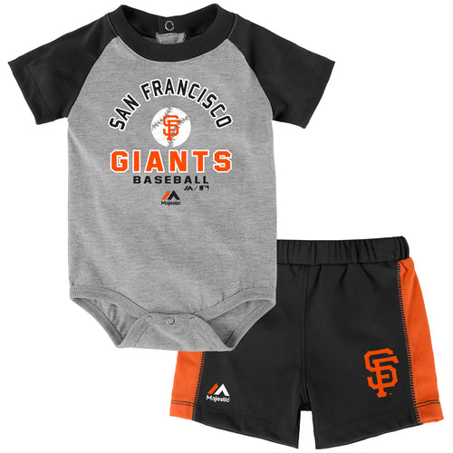 Giants Baby Classic Onesie with Shorts Set