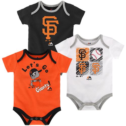 12b15b262b4 SF Giants Baby Uniform Coverall. $29.95. Let's Go Giants Creeper 3-Pack