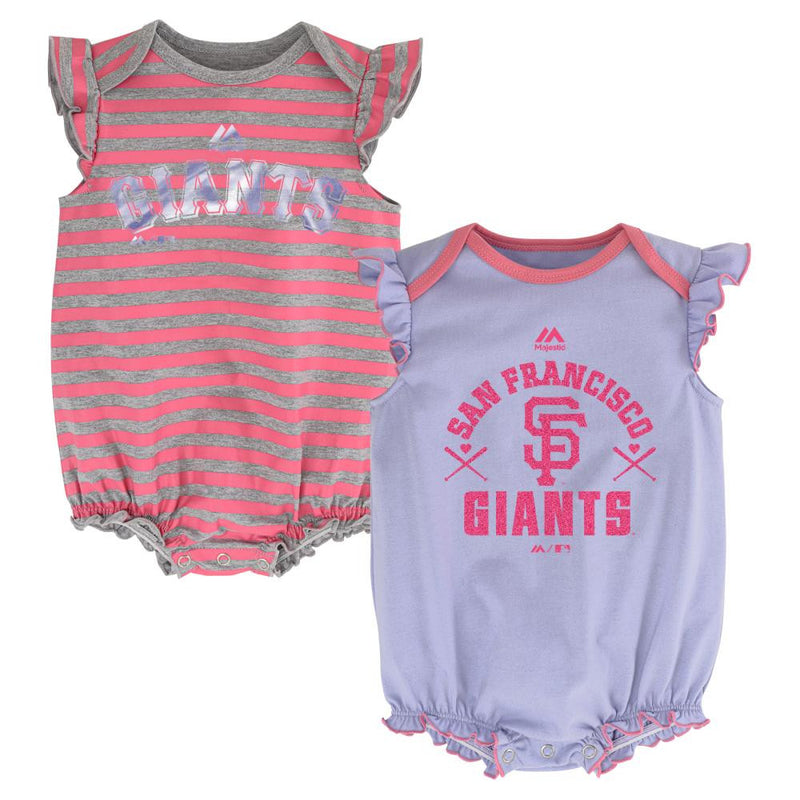 "Giants ""Team Sparkle"" Bodysuit Set"