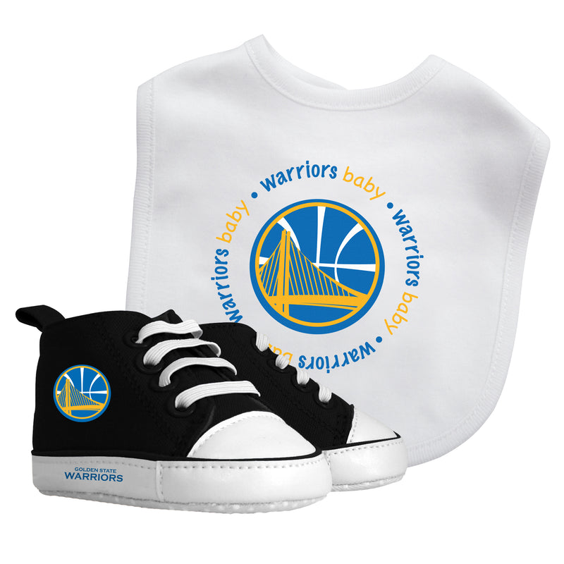 Warriors Baby Bib with Pre-Walking Shoes