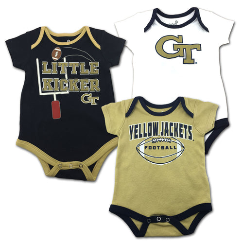 Georgia Tech Little Kicker Onesie 3-Pack
