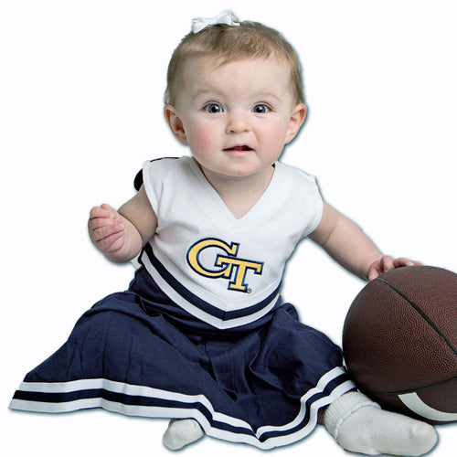 Georgia Tech Infant Cotton Cheerleader Dress