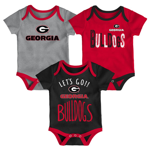 Bulldogs Let's Go 3-Pack Bodysuit Set