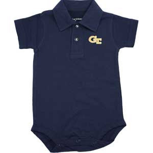 Georgia Tech Golf Shirt Romper