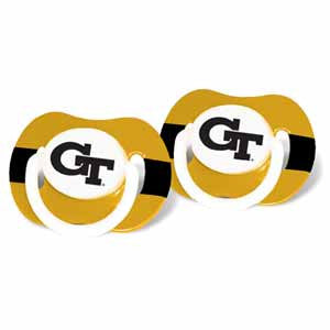 Georgia Tech Baby Pacifier Set