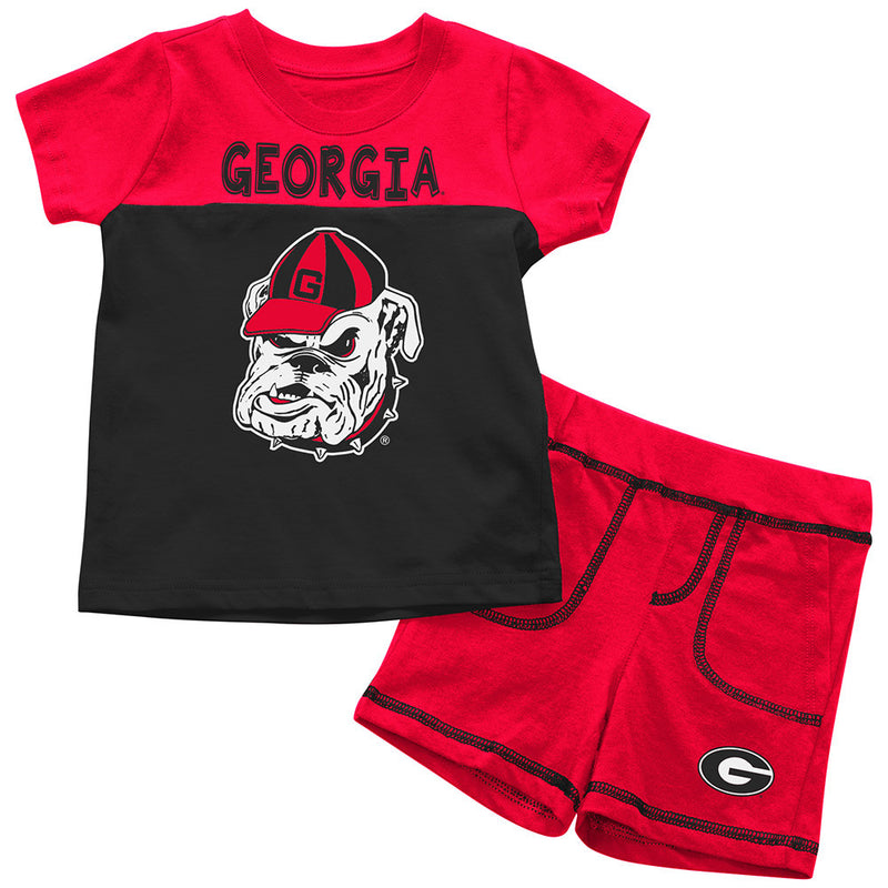 Bulldogs Infant Mascot Shorts and Tee Set