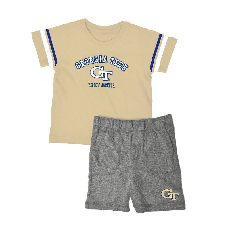 Georgia Tech Knit Tee Shirt and Shorts
