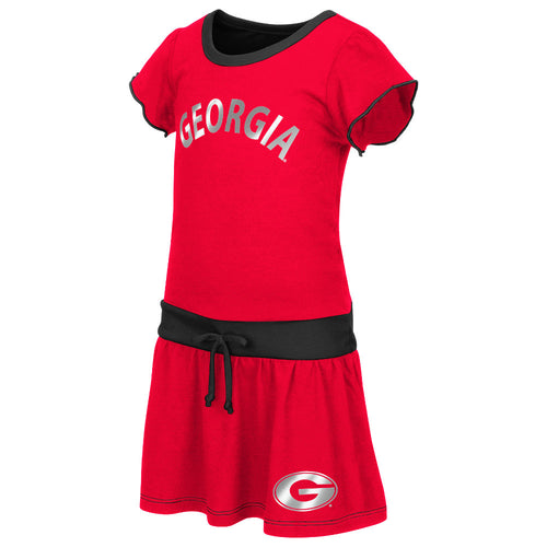 Bulldogs Tot Tie Front Dress