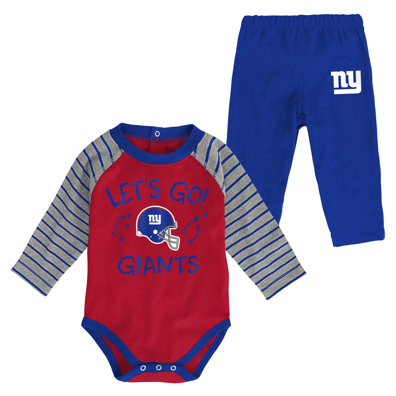 NY Giants Long Sleeve Bodysuit and Pants