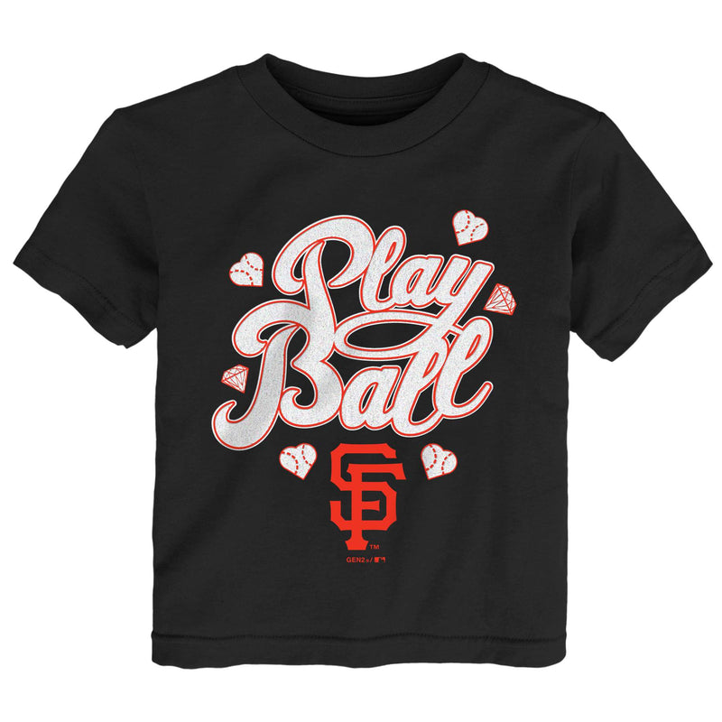 Giants Girl Play Ball Tee
