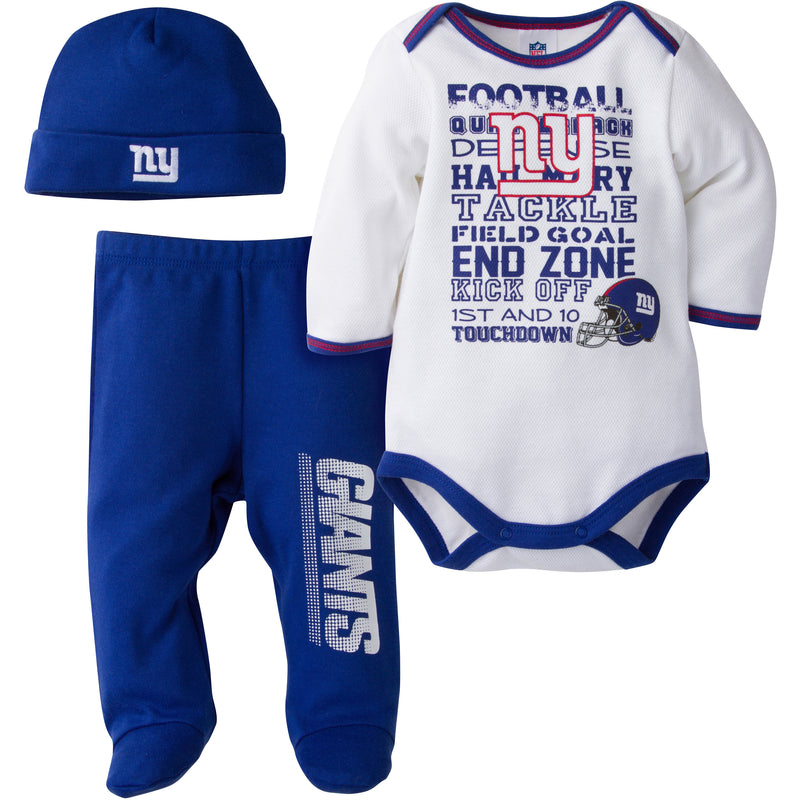 Giants Baby 3 Piece Outfit