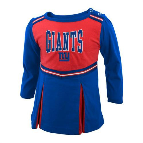 NY Giants Baby Cheerleader Dress