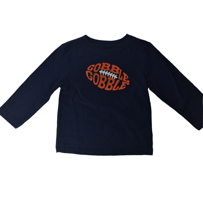 Gobble Gobble Long Sleeve Football Tee (Size 2T)
