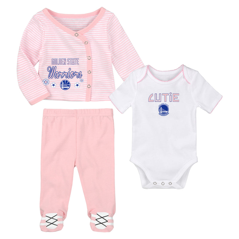 Golden State Warriors Little Cutie Girl 3 Piece Set