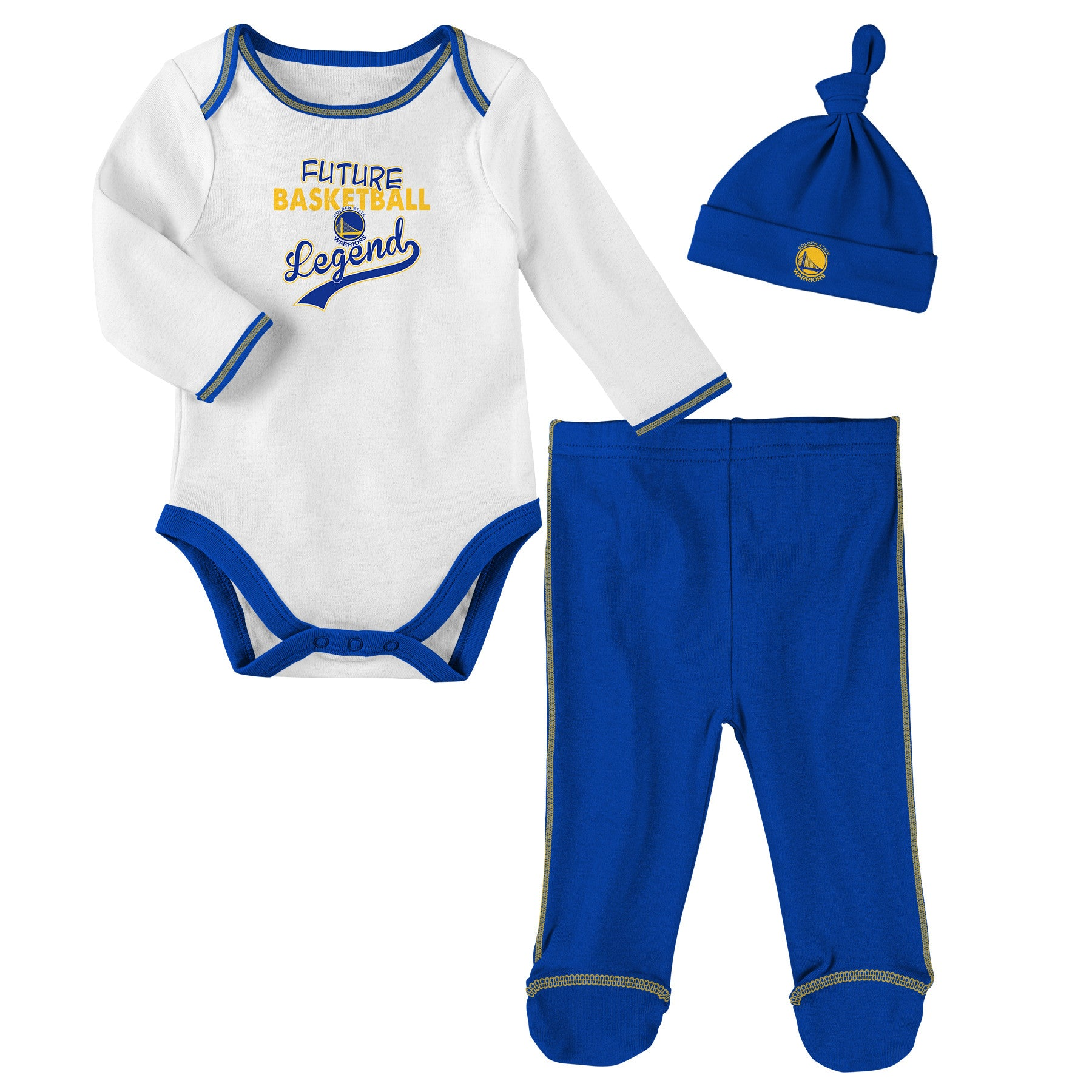 Golden State Warriors Future Basketball Legend 3 Piece Baby Outfit