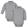 Long Sleeve Turtleneck Onesies Bodysuits 2-Pack