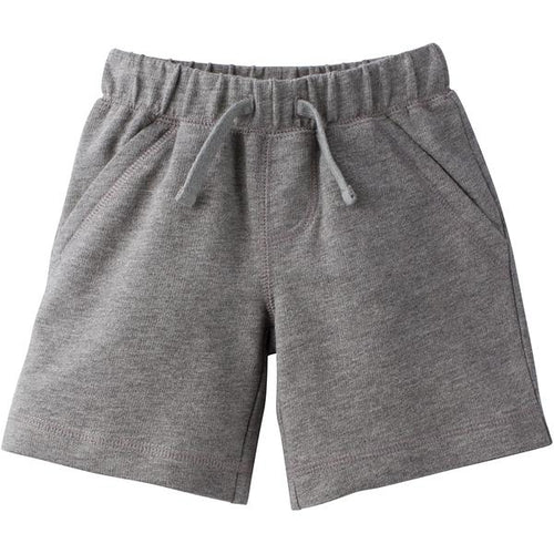Infant and Toddler Boys Gray French Terry Cotton Shorts
