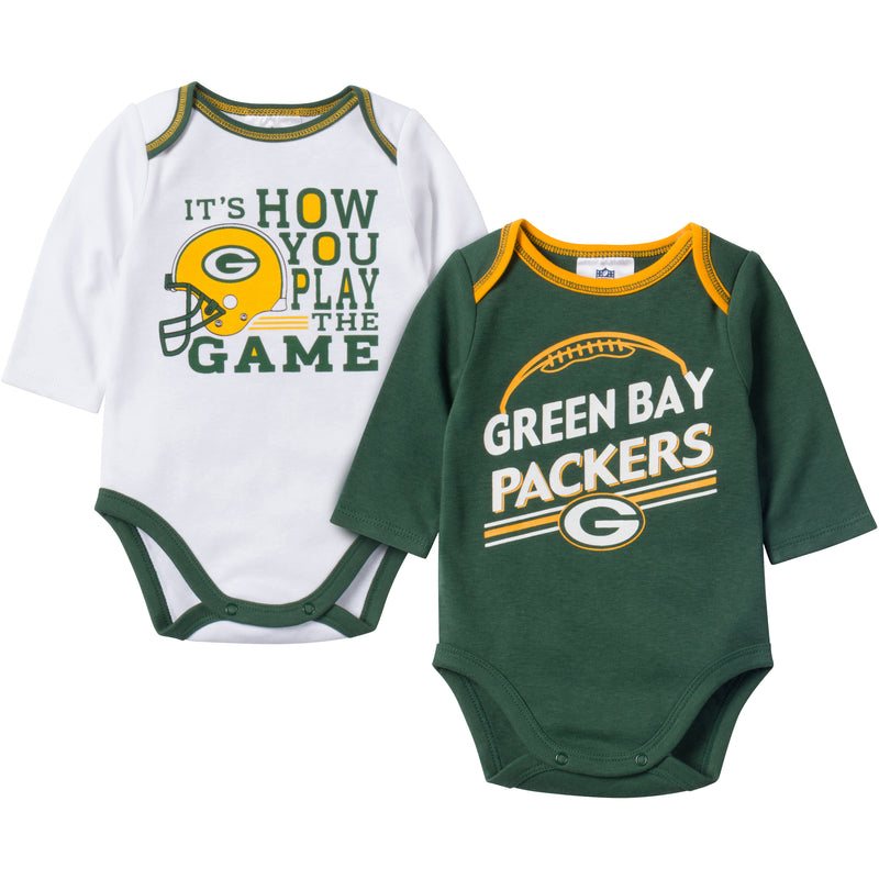 Baby Packers Fan Long Sleeve Onesie 2 Pack