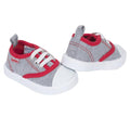 Sporty Baby Boys' Lace Up Red and Grey Canvas Shoe