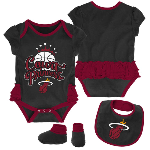 Heat Court Princess Creeper, Bib and Booties Set