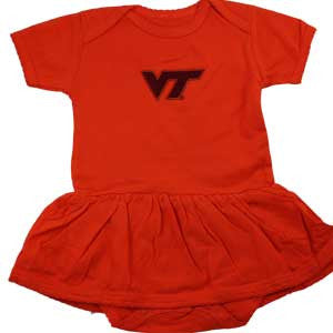 Virginia Tech Orange Skirted Dress