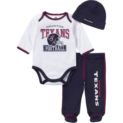 Baby Texans Fan 3 Piece Outfit
