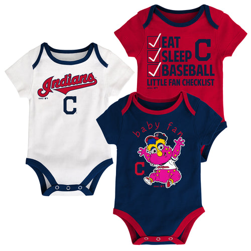 Indians Baby Fan Mascot Creeper Set