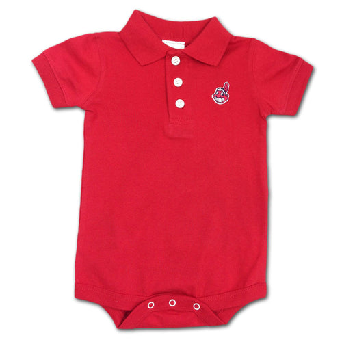 Indians Infant Golf Shirt Creeper