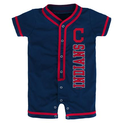 Indians Infant Short Sleeve Coverall