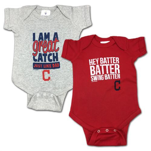 "Indians ""Hey Batter"" Bodysuit 2 Pack"