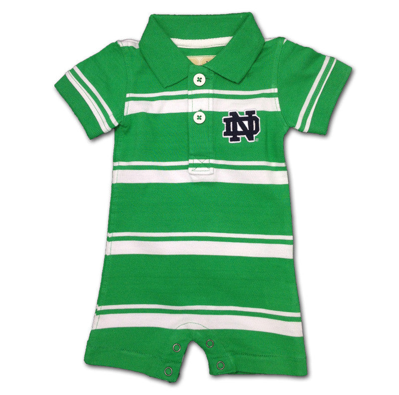 Notre Dame Baby Striped Romper