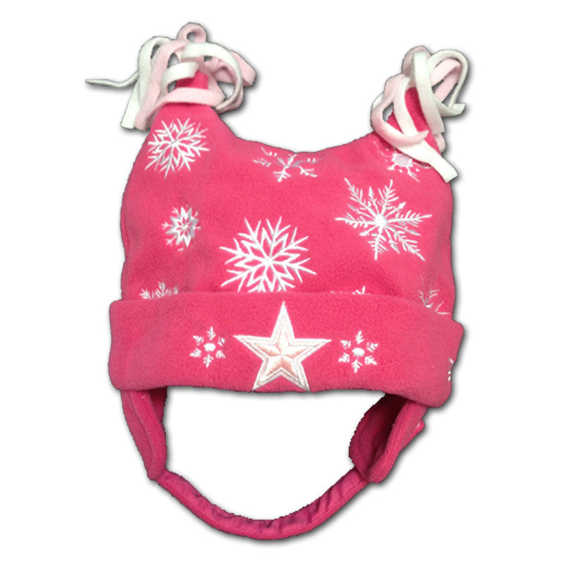 Cowboys Newborn / Infant Pink Snow Fleece Hat