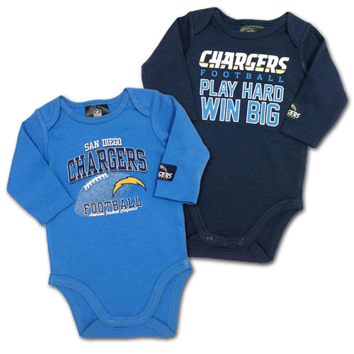 "Chargers Baby ""Win Big"" Bodysuit 2-Pack"