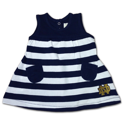 Notre Dame Stripes & Pockets Dress