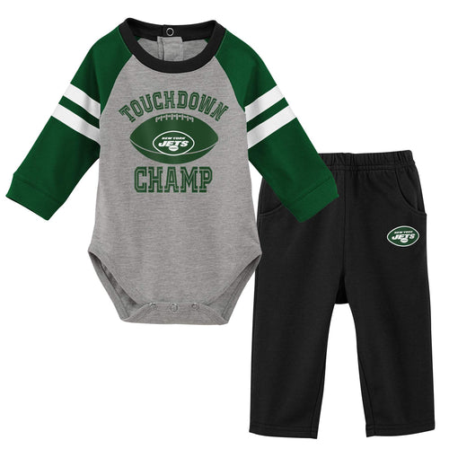Jets Baby Boy Creeper and Pants Set